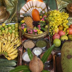 In harmony with nature: fruits and offering for the celebration of New Year at Vaidyagrama Healing Village